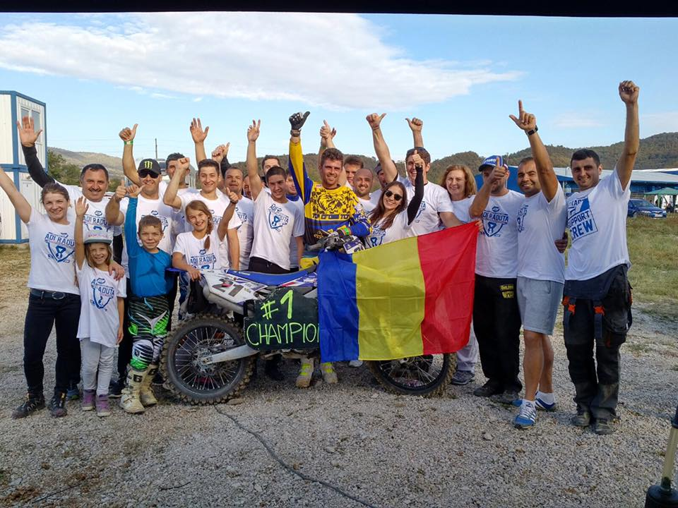 Adrian Răduţă aduce în România, cel de-al patrulea său titlu de campion est european de motocross, clasa MX1.